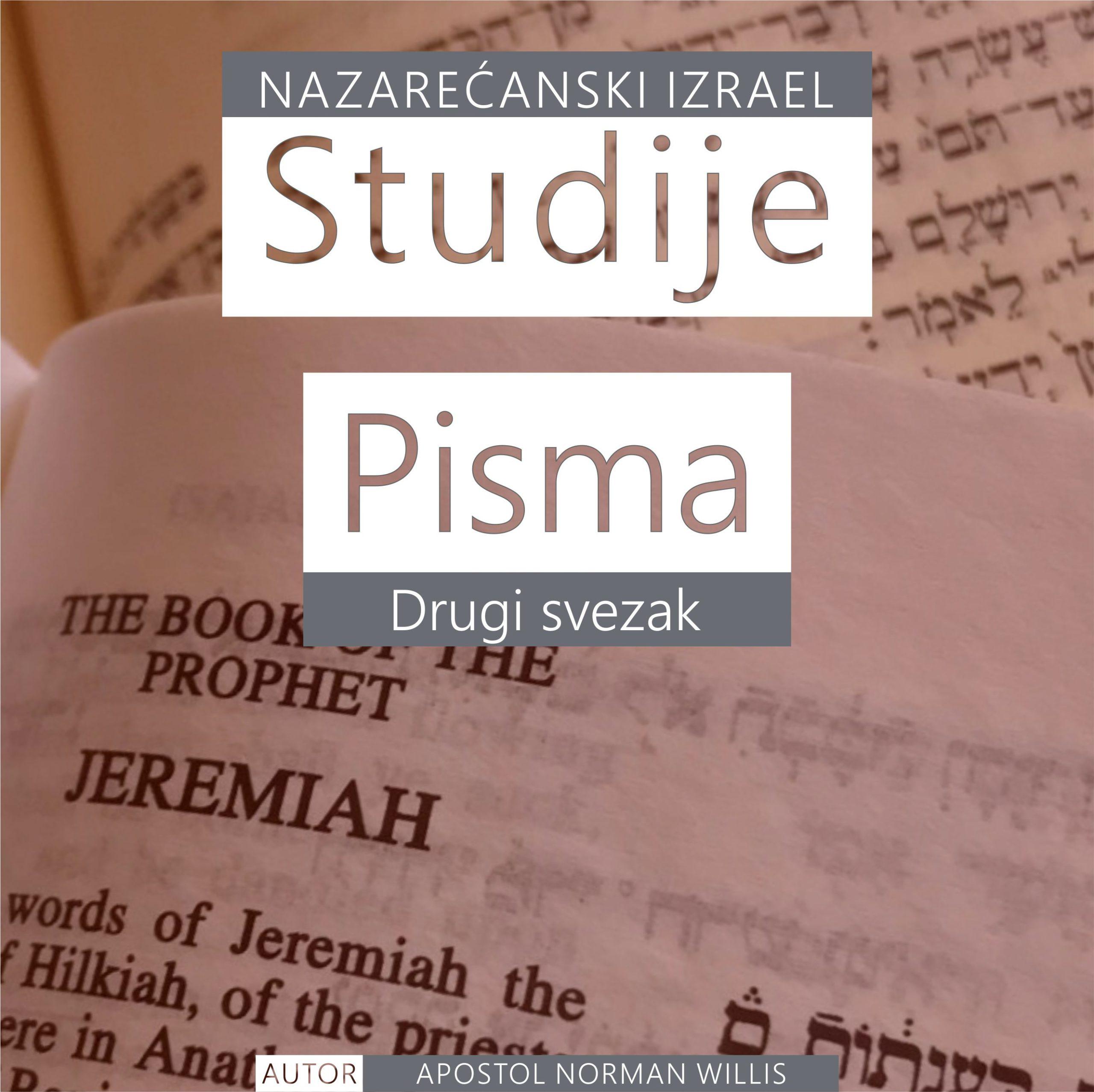 Nazarećanske Studije Pisma: Drugi svezak