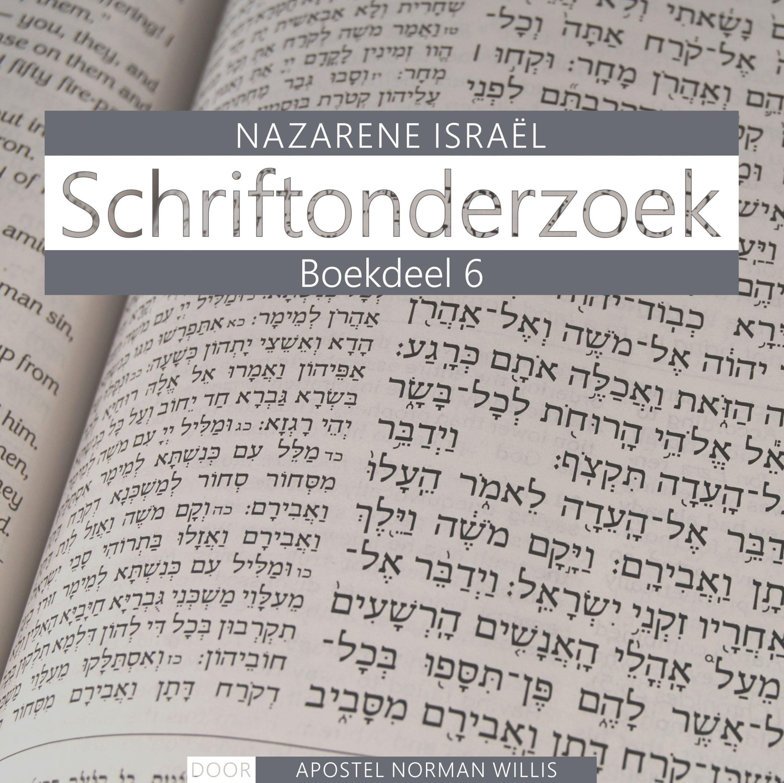 Nazarener Schriftonderzoek Boekdeel 6