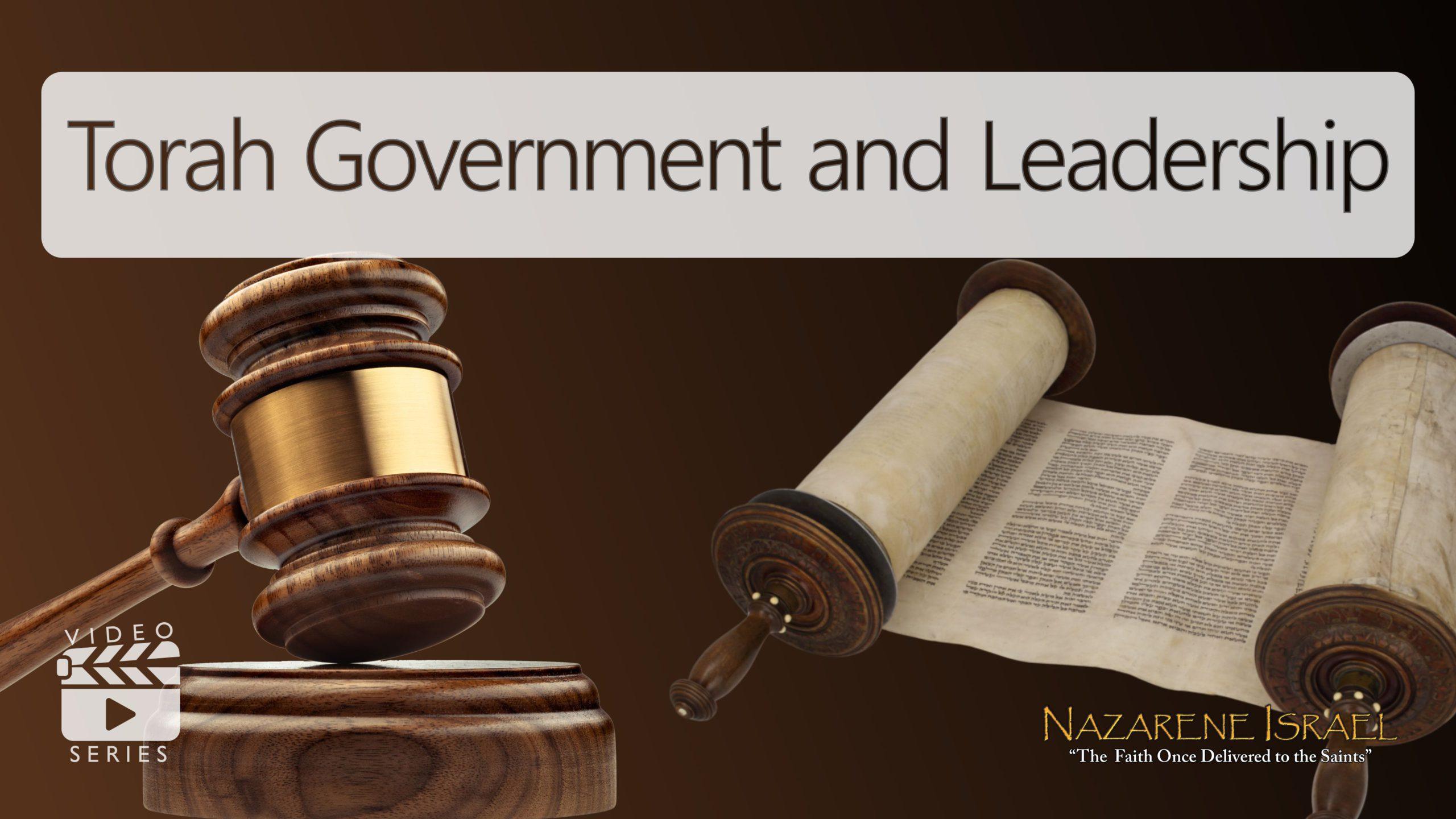 Gobierno y Liderazgo de la Torah